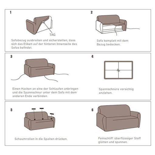 Stretch Sofabezug Anleitung
