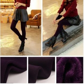 Winter Fleece Leggigns Violett