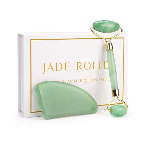 Gesichtsmassage Roller aus echtem Jade Stein