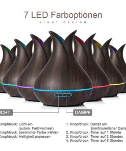 leiser Luftbefeuchter mit LED