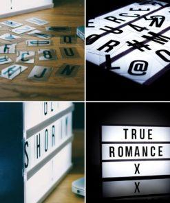 Deko Light Box Buchstaben