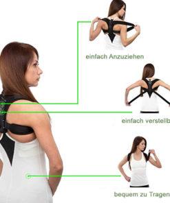 Geradehalter Rückenstütze zum Anziehen