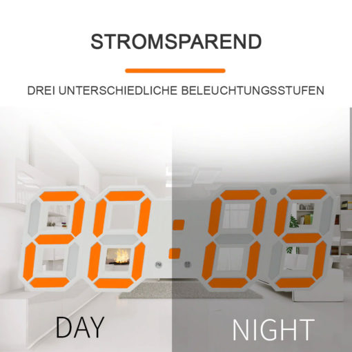 moderne LED Digital Wanduhr