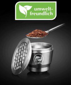 Umweltfreundliche Kaffe-Kapsel, wiederverwendbar