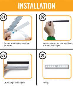 LED Lampe mit Batterie und automatischem Sensor