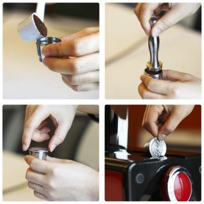 Nespresso Edelstahl Wiederverwendbar Kapsel