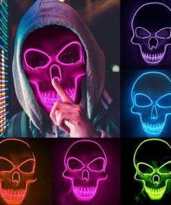 LED Totenkopf Skull Maske