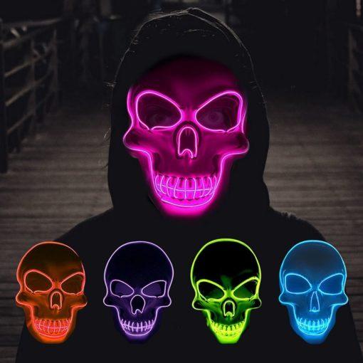 Totenkopf Maske mit Beleuchtung LED Schweiz