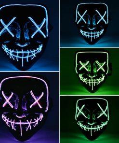 The Purge Maske mit LED Licht Schweiz