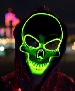 Skull Maske Totenkopf mit LED Licht