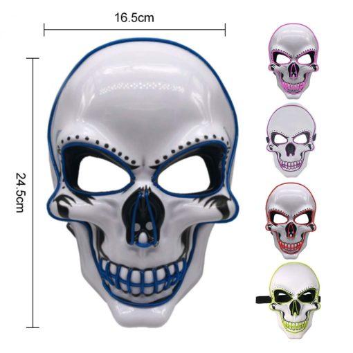 LED Totenkopf Maske