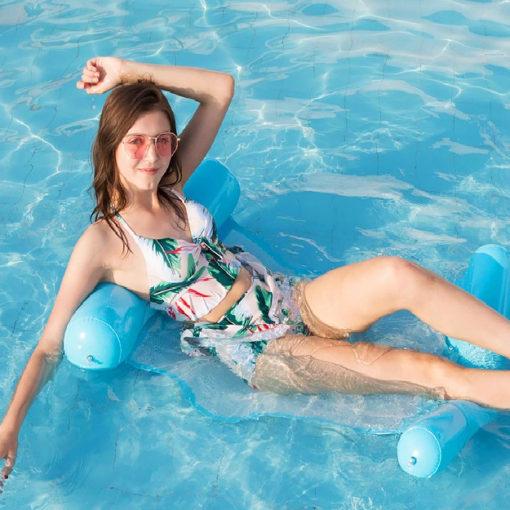 Aufblasbare Wasserhängematte, Luftmatratze