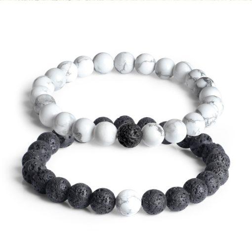 Partner Perlen Armband, Lavastein Armband, Partnerarmband, Hangelenk Schmuck, Modeschmuck, Schmuck Shop Schweiz