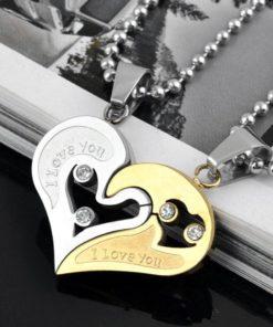 Partner Herz Anhänger Herzpuzzle Halskette, Liebesbeweis, Schmuck-Shop Schweiz