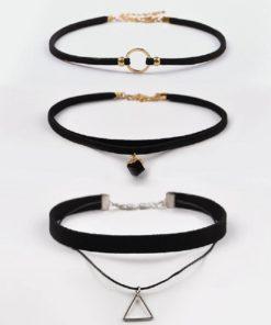 Chocker Halskette Triangel, Schmuckshop Schweiz
