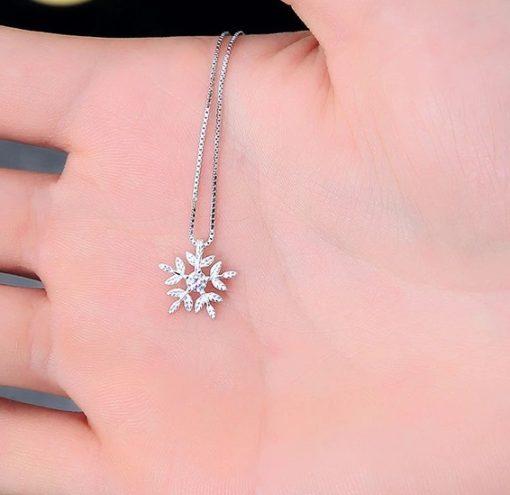 Damenschmuck, Silberhalskette, Schneeflocke, Schmuck kaufen schweiz, online shop