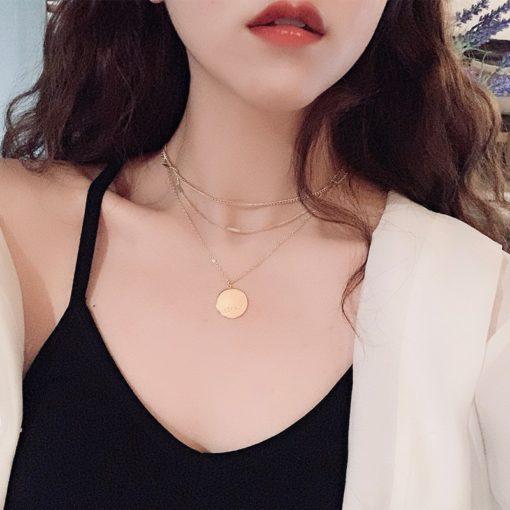 Modeschmuck Damen Halskette Gold
