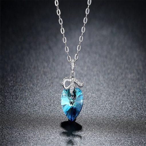 Halskette mit Herz der Meere Anhänger, Damenhalskette, Schweiz