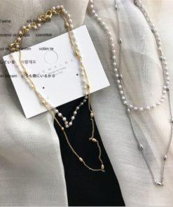 Modeschmuck, Halskette mit Perlen, Treasure