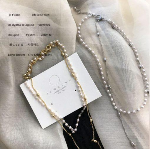 Damen Modeschmuck, Perlen-Halskette Treasure, Schweiz