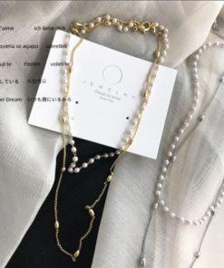 Damenschmuck, Perlen-Halskette Treasure, Schweiz