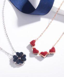Halskette Damen Schmuck, faltbare Blume, Modeschmuck, Schmuck und Accessoire Shop Schweiz