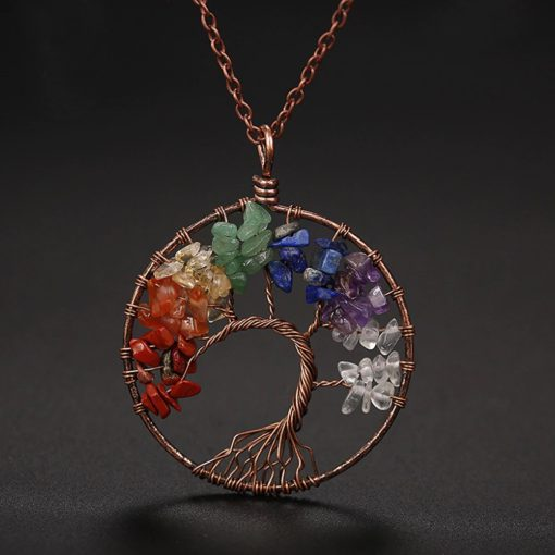 Halskette mit Weltenbaum Anhänger, Yggdrasil, Baum des Lebens Halskette