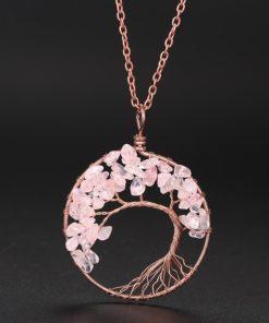 Weltenbaum Halskette echte Steine