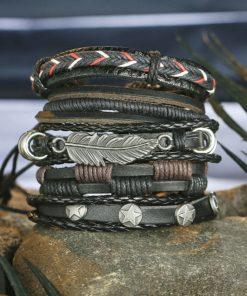 Männer Schmuck, Herrenschmuck, Leder Armband, Lederarmband, Schmuckshop Schweiz