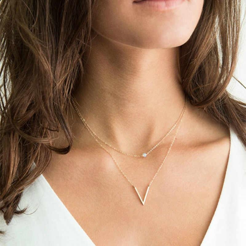 Halskette V, Damenmode, Queens Knot. Damen Schmuck, Schweiz