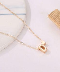 personalisierbare Halskette mit Buchstaben Anhänger