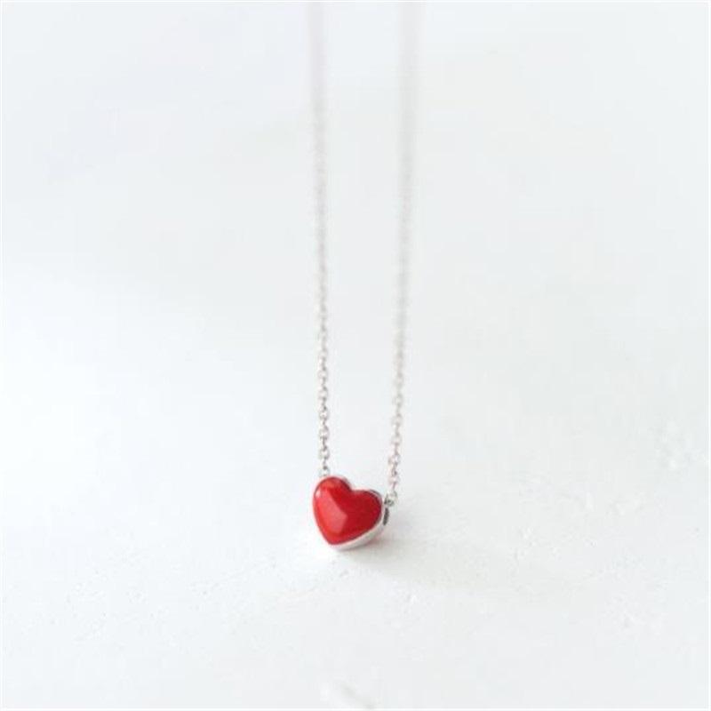 Modeschmuck, Halskette mit Herzanhänger, Little Red Heart