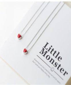 Damenschmuck, Halskette mit Herzanhänger, Little Red Heart