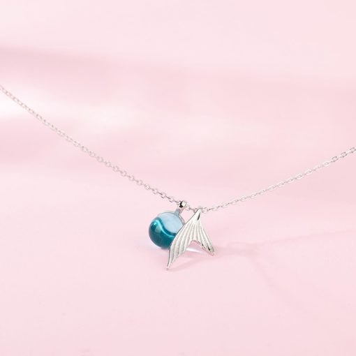 Damen Halskette, modeschmuck, Meerjungfrauflosse Halskette mit Anhänger, Schweiz