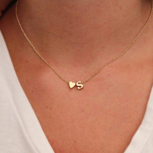 Gold Halskette mit Buchstabe nach Wahl Schweiz