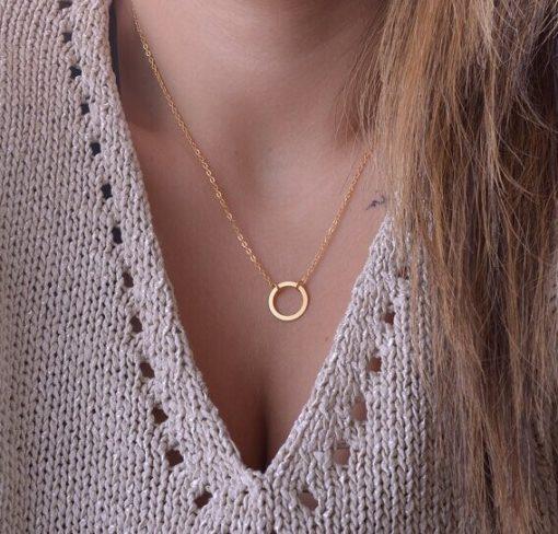 Damen Modeschmuck Halskette mit Goldring Schweiz