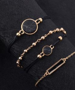 Modeschmuck Schwarz Gold