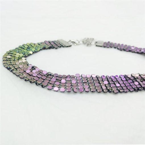Vintage Pailletten Choker Halskette