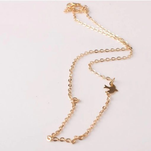 Gold Choker Halskette mit Taube