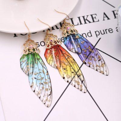 Feen Ohrringe, Magic Wings, Flügel-Ohrring, Schmetterling