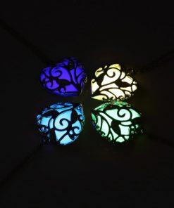 Leuchtherz, Anhänger mit Leuchtendem Herz, Damenschmuck, Schweiz