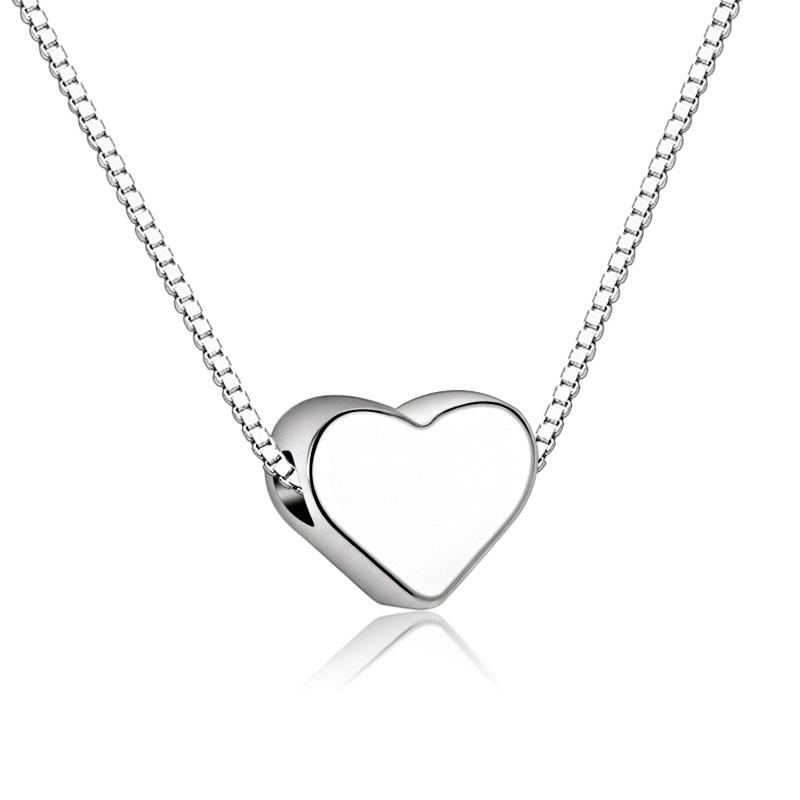 Silber Halskette mit Herz Anhänger Sweetheart, Damenschmuck, Modeschmuck, Schweiz