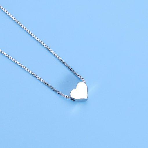 Damenhalskette, Halskette mit Herz Anhäger Sweetheart, Damenschmuck, Modeschmuck, Schweiz