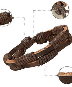 Leder Armband, Männer Schmuck, Lederband Set, Raw & Rough. Schweiz