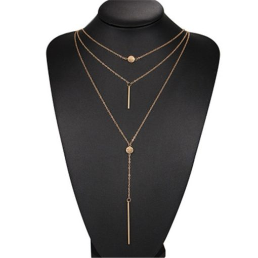 Mehrlagige Damen Halskette Gold Silber