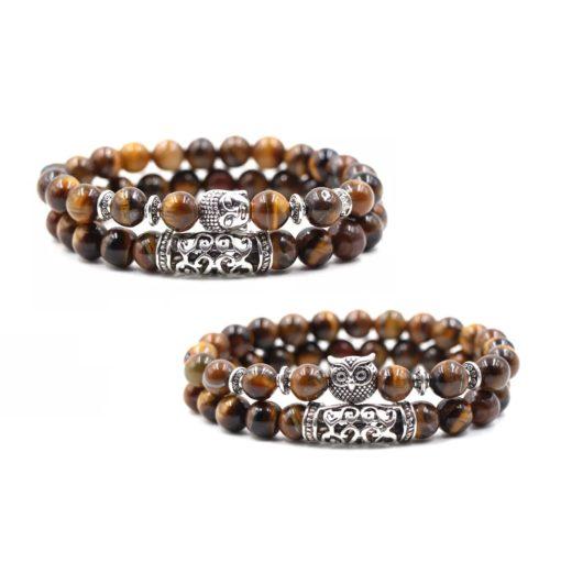 Tigerauge Perlen Armband, Armkette, Schmuck, Schweiz