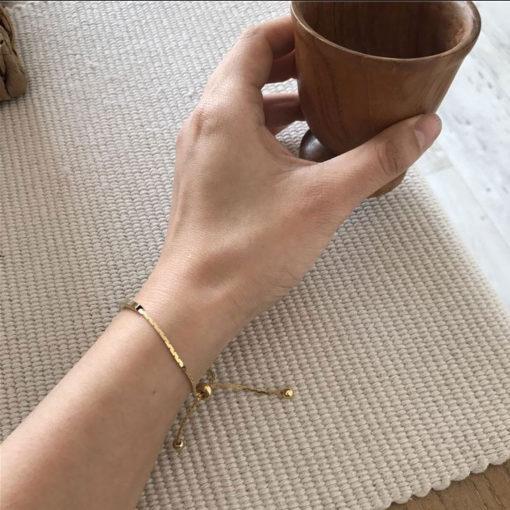 Feines Gold Armband für Damen