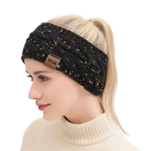Gestricktes Damenstirnband breit, Stirnband aus Wolle, Schweiz