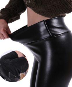 Thermo Leder Leggings Warm