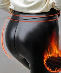 Warme Leder Leggings